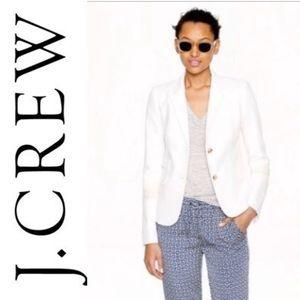 J CREW schoolboy 100% Linen lined blazer